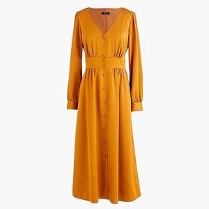 J. CREW BUTTON-FRONT DRESS